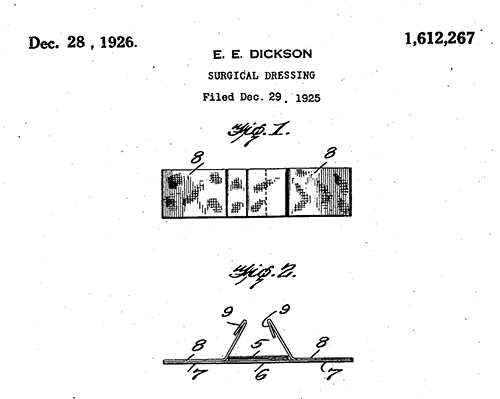 Disposable bandage patent