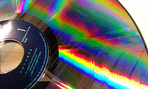 Laserdisc close-up
