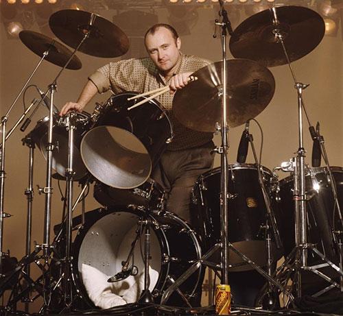 Phil Collins drumming
