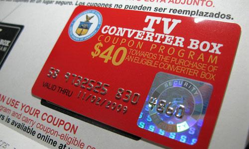 Digital television converter coupon