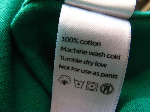 Not for use as pants