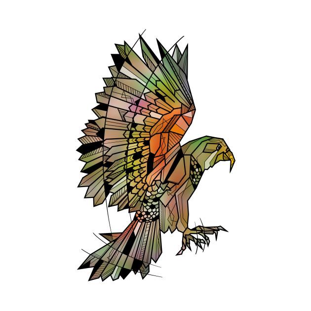 Kea Flying Bird