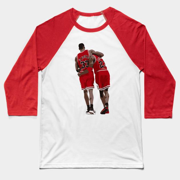 22b3a7f9803 The Flu Game - Michael Jordan - Baseball T-Shirt   TeePublic