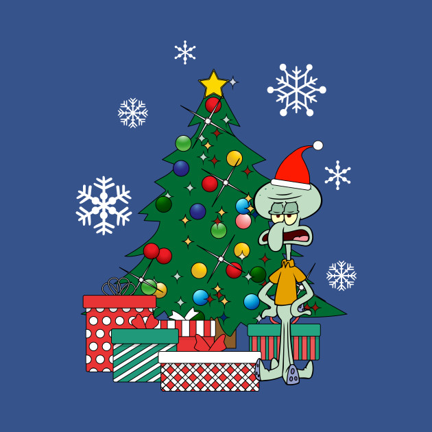 Squidward Tentacles Around The Christmas Tree