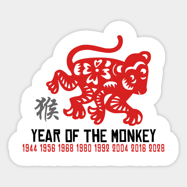 Chinese Zodiac Monkey 1944 1956 1968 1980 1992 2004 2016 2028