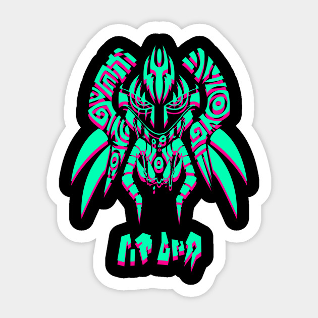Psychedelic sticker