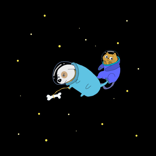 dog and cat in space astronauts