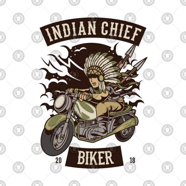 MOTORCYCLE T-SHIRT Indian Chief Biker Club