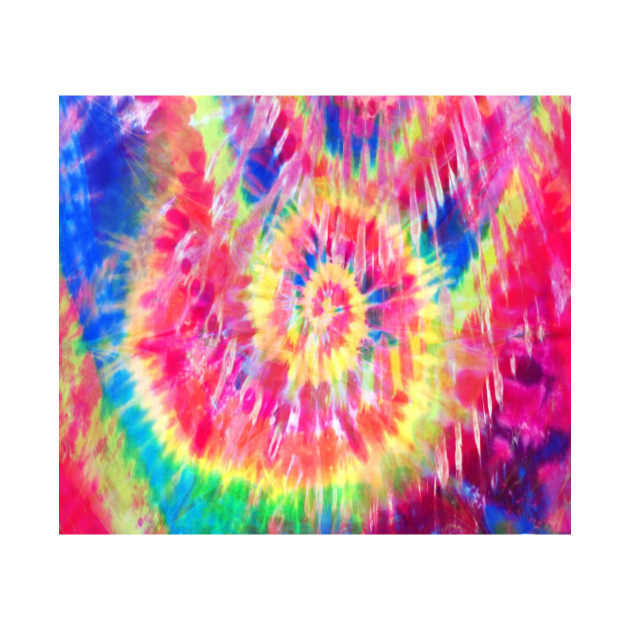 Abstract Rainbow Tie-Dye Texture