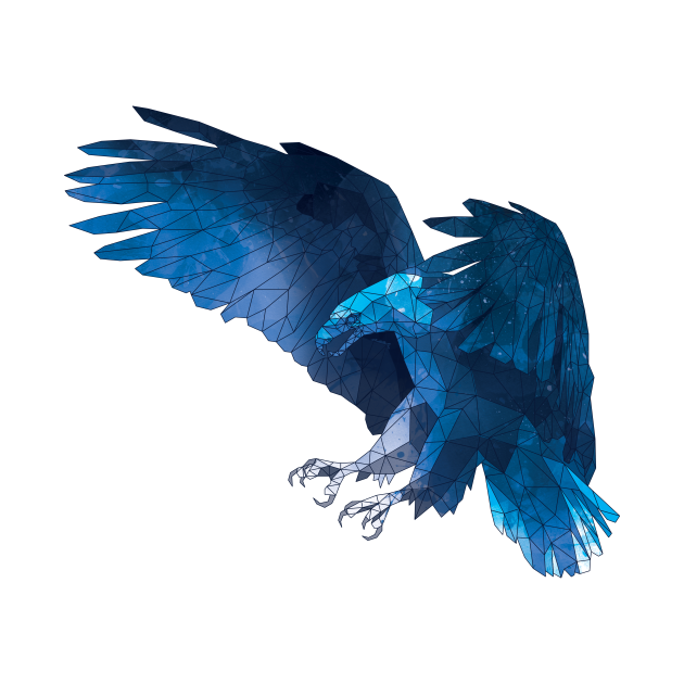Geometric Blue Eagle