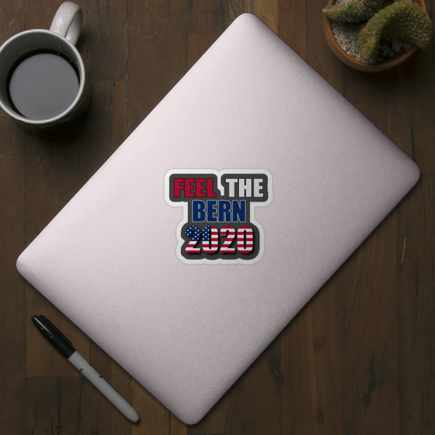 Mug BERNIE SANDERS 2020 Decal Sticker for Car Laptop FEEL THE BERN