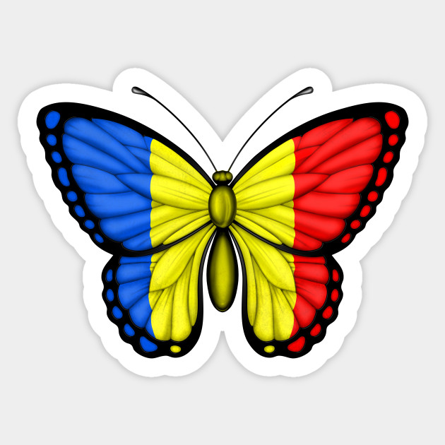 Romanian flag butterfly sticker romanian flag butterfly romanian flag butterfly 798510 1