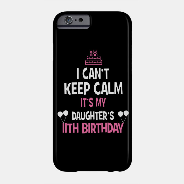 11th Birthday Girl T Shirt 11 Years Old Party Gift Phone Case