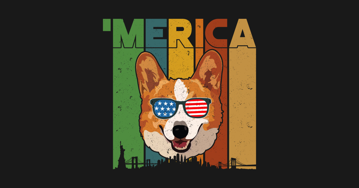 df9ace4967 4th of July Gifts Patriotic Corgi 'Merica - 4th Of July Patriotic ...
