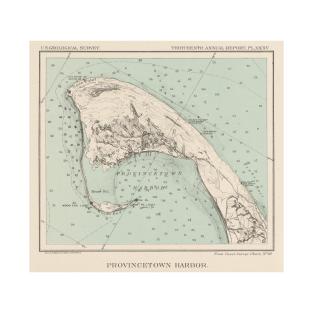 e3ce0e0443 Vintage Map of Provincetown MA (1892) T-Shirt