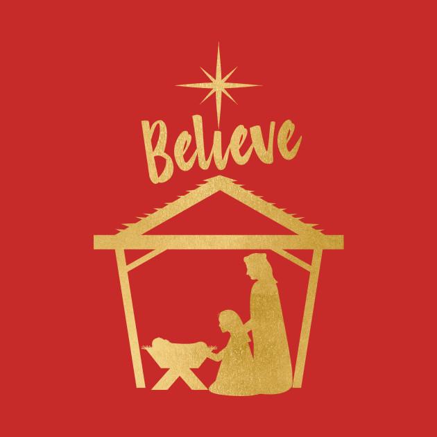 Christmas Designs.Believe Nativity Baby Jesus Christmas Design By 4craig