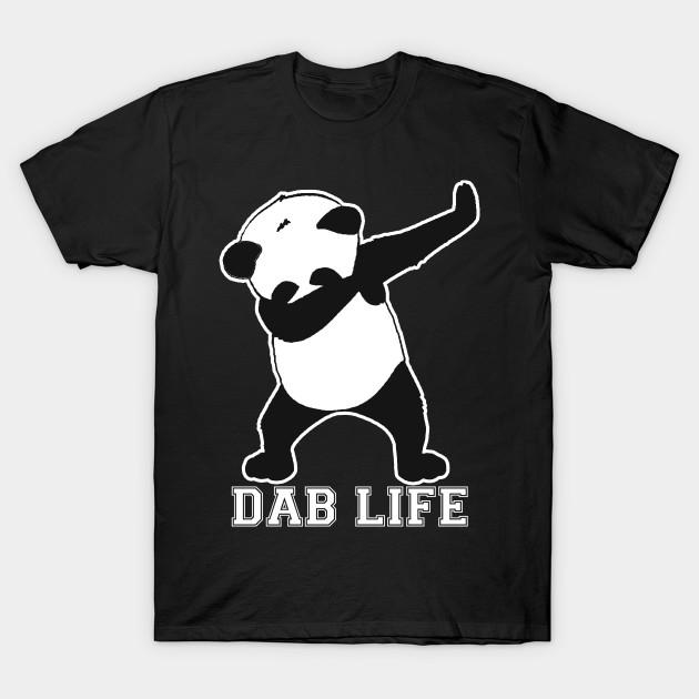 panda dab life dab t shirt teepublic. Black Bedroom Furniture Sets. Home Design Ideas