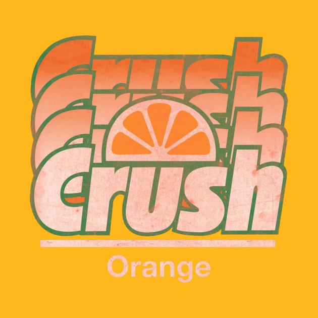 Orange Crush Logo T-Shirt - Vintage Crush Soda Gradient Graphic Tee