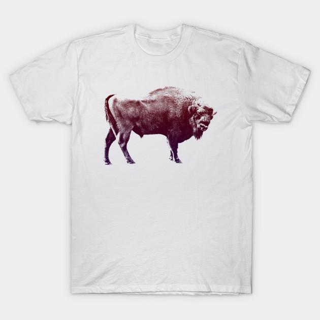 0360984e Vintage Style European Bison - European Bison - T-Shirt   TeePublic