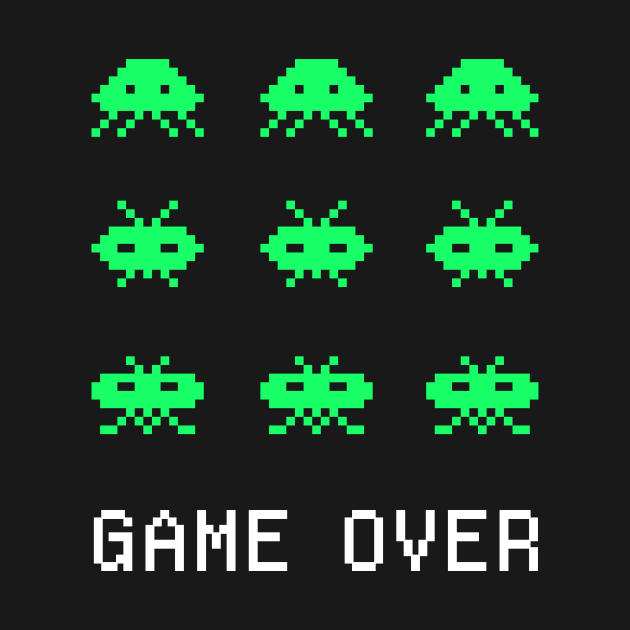 Game Over - Retro Arcade Gaming Pixel Art