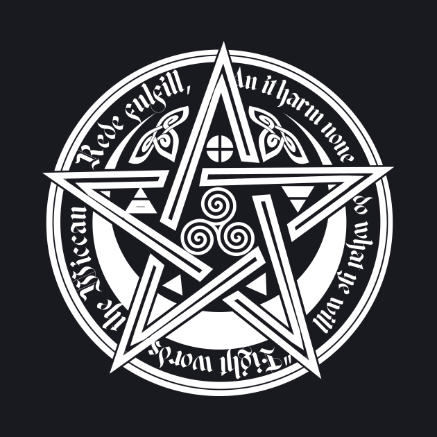 Wicca symbol of magic and the elements