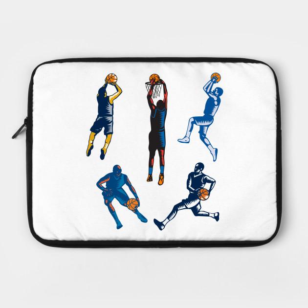 Basketball Woodcut Collection