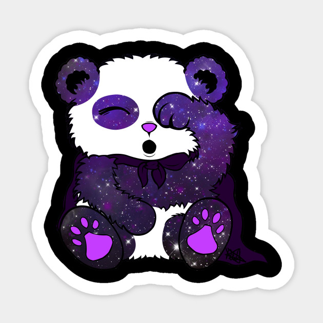 Galaxy Panda Panda Sticker Teepublic