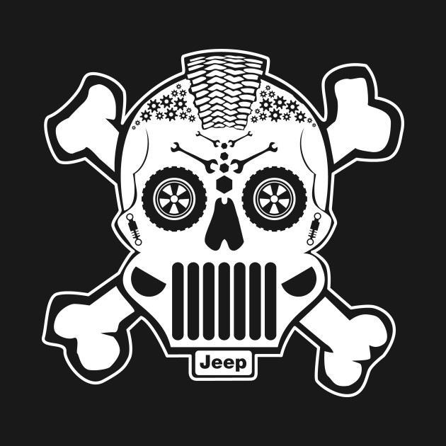 New Sugar Skull Jeep Design Offroad TShirt TeePublic - Jeep t shirt design