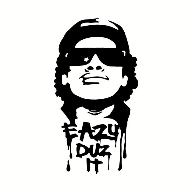 Eazy E NWA White Airbrush Stencil