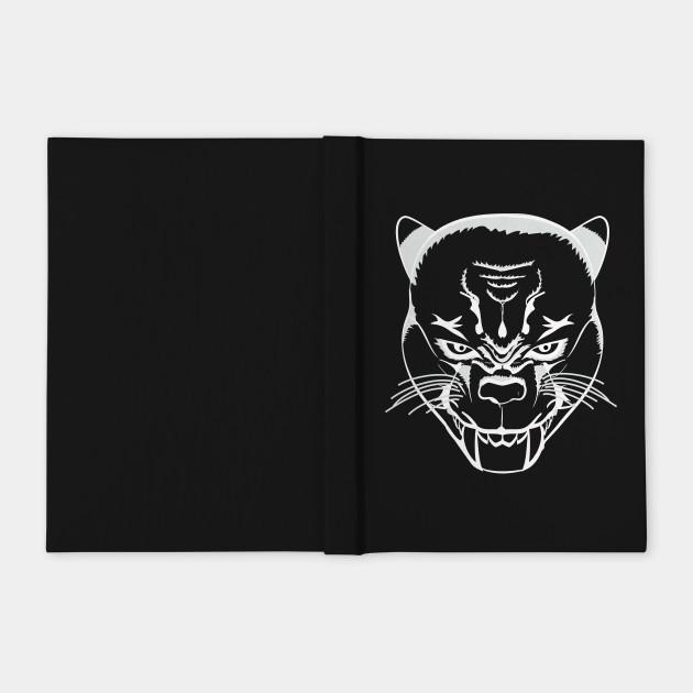 Evil Kitty Cat - Lineart White