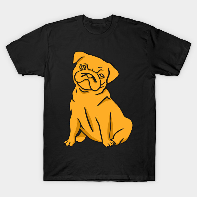 Pug - Dog in Yellow Color T-Shirt