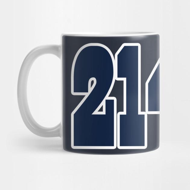 e2226fdfa91 Dallas LYFE the 214!!! - Dallas Cowboys - Mug | TeePublic