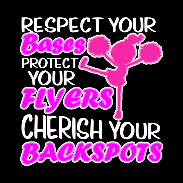 Respect Your Bases Funny Cheerleading Cherish
