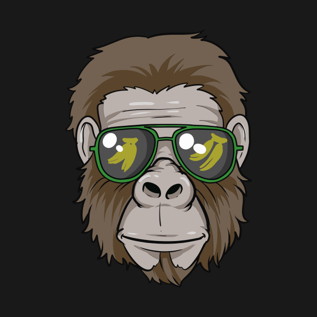 Cool Gorilla with glasses