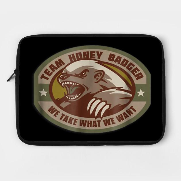 Team Honey Badger Military Morale Patch Veteran T-Shirt by veterandesigns