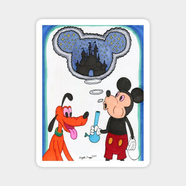 Mickey S Magic Cannabis Magnet Teepublic Uk