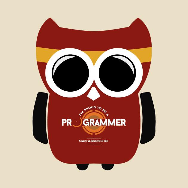 Programmer T-shirt - Owl Programmer