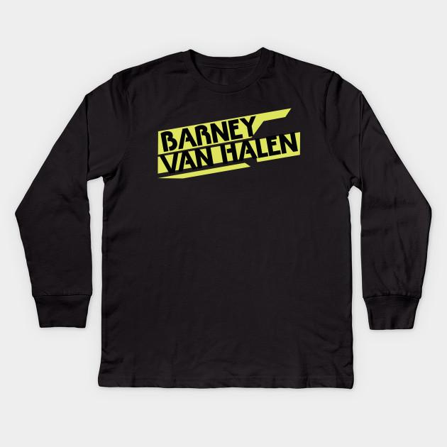 5566ea6356b Barney Van Halen - Band Logo - Barney Van Halen - Kids Long Sleeve T ...