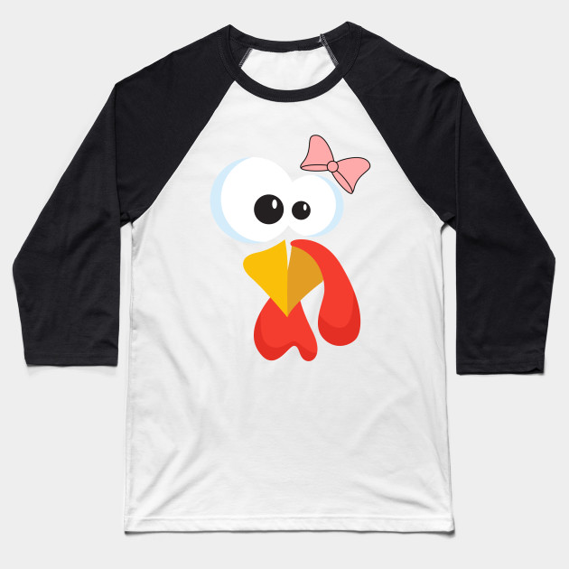 Turkey Face with Bow tie Baseball T-Shirt