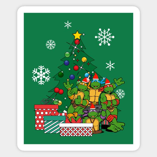 Ninja Turtle Christmas Tree.Teenage Mutant Ninja Turtles Around The Christmas Tree
