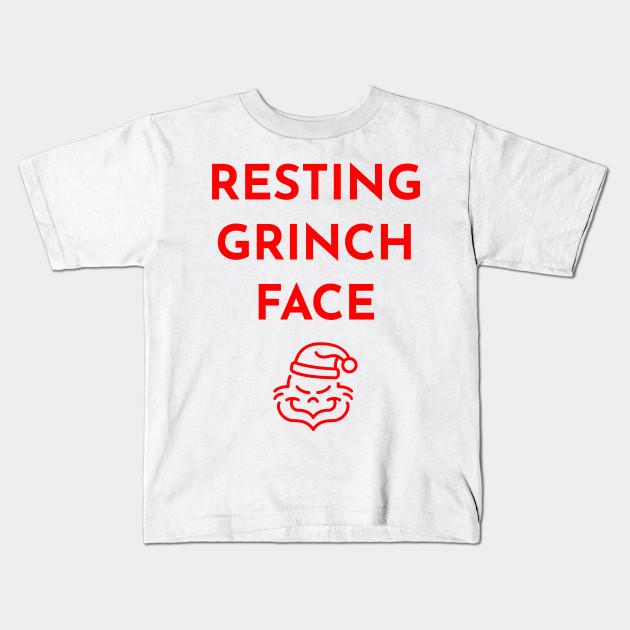 e3db03caa222 Resting Grinch Face Christmas Shirt TShirt T-Shirt Tee - Grinch ...