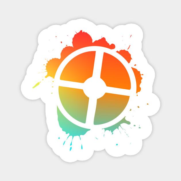 Tf2 Logo Splatter Gradient Team Fortress 2 Magnet Teepublic