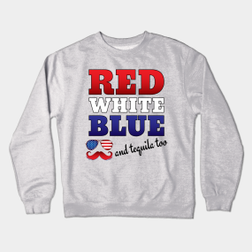 Red White Blue Crewneck Sweatshirts  010b43a37