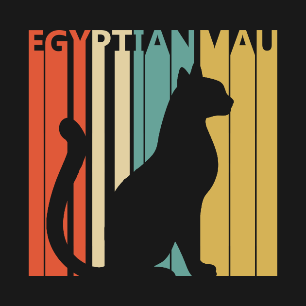 Vintage Egyptian Mau cat owner gift