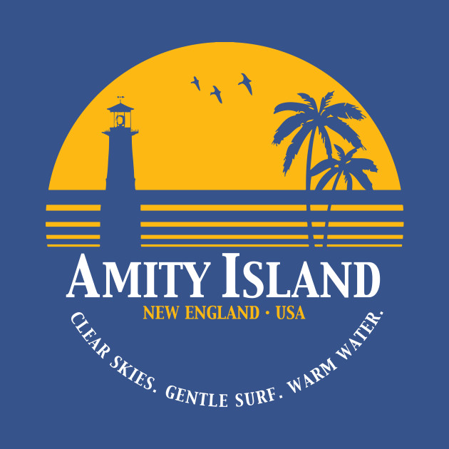 Amity Island Jaws T Shirt Teepublic