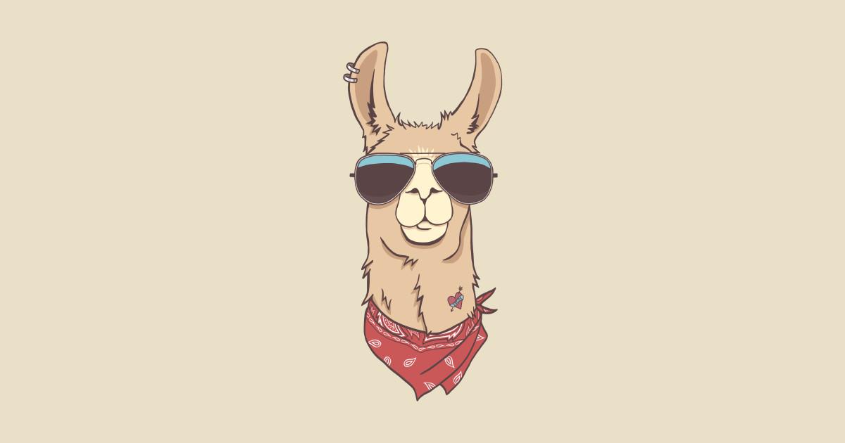 hipster llama - llama - t-shirt | teepublic