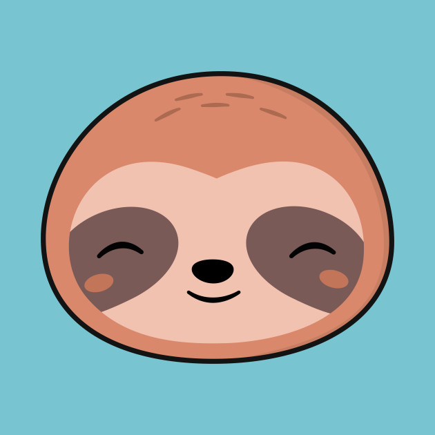 This is a picture of Punchy Sloth Drawing Cute