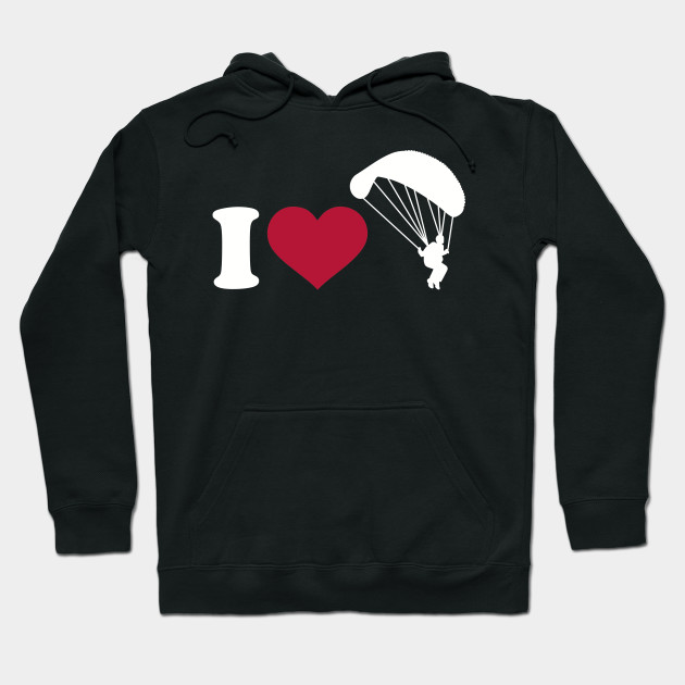 I Love Heart Skydiving Sweatshirt