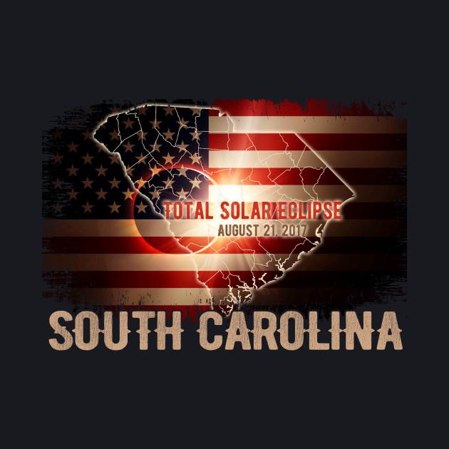 Total Solar Eclipse Shirts Gifts, SOUTH CAROLINA US Flags T-Shirt