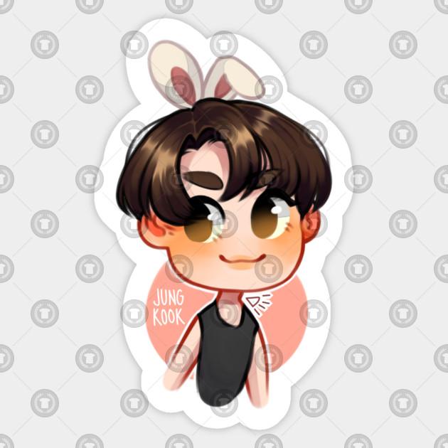 Bunny Jungkook Jungkook Sticker Teepublic Au